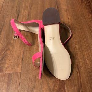Stuart Weitzman Pink Suede Sandals